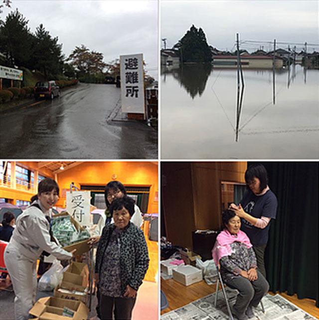 宮城県大崎市鹿島台第二小学校避難所